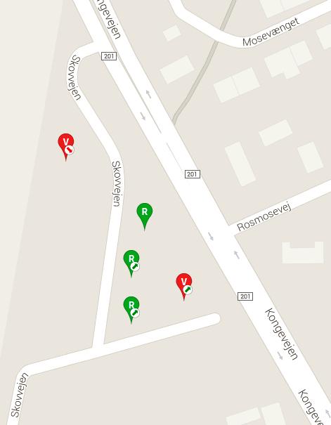 Ved Skovvejen - vest for Kongevejen - var der for 5 måneder siden 7 nyopførte huse til salg i flg. 'boliga.dk'- dette er nu reduceret til 5.