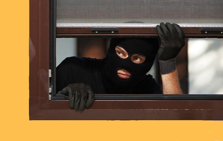 En tyv var mandag aften på spil på Blomstermarken medens beboerne var hjemme og så fjernsyn.