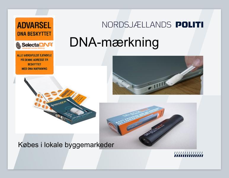En ny måde at mærke sine værdifulde genstande på er DNA-metoden.