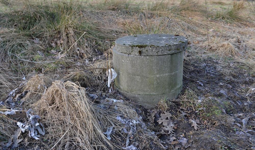 Det er denne brønd, som ved stærkt regnskyl giver kloakvand på terræn. Foto: AOB