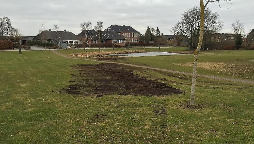 Man kan se resterne, efter at der har været arkæologiske undersøgelser på stedet. Foto: AOB