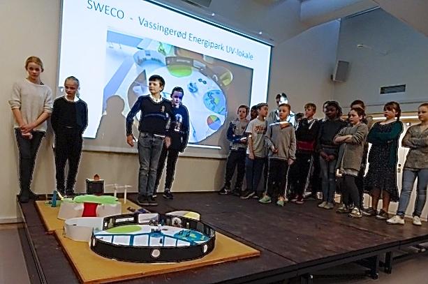 5.b fra Blovstrød Skole løb af med førstepladsen i 'Allerød Mesterskaberne i Innovation'. Privatfoto