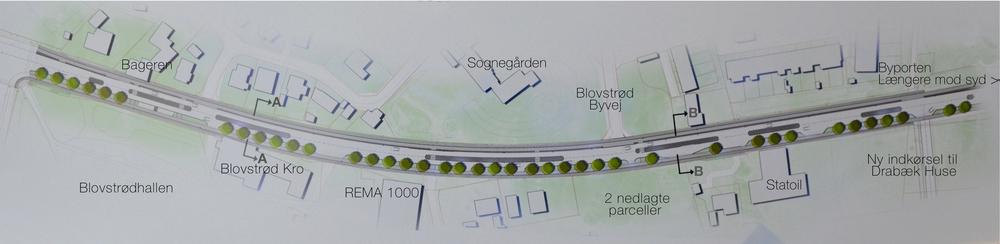 Den sidste nye opdaterede officielle plan af Kongevejs-projektet. Tegning: NIRAS A/S. Tekster: AOB