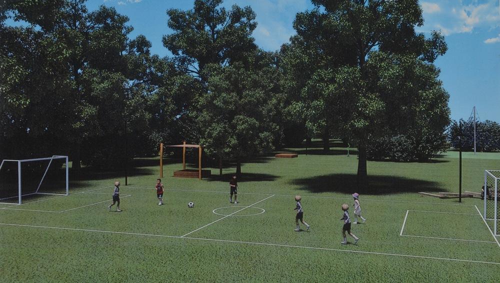 Boldbane med fordboldmål