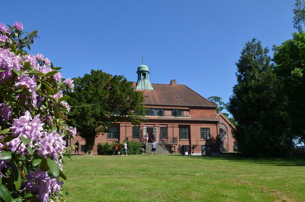 'Ny Allerødgård I.F' er den nye idrætsforening, der holder til på Ny Allerødgård, hvor Allerød Privatskole som bekendt bor. Foto: AOB
