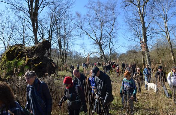 Arrangementet er et samarbejde mellem Den Kongelige Livgarde og Allerød Kommune. Her er et klip fra en tilsvarende tur medio april måned sidste år, hvor over 150 borgere deltog.Arkivfoto. AOB