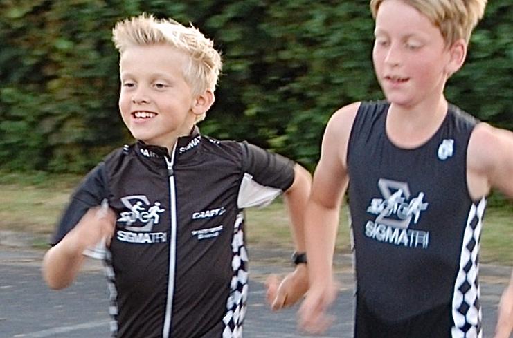 Træningen i 'Sigmatri Mini' bliver hver søndag med udgangspunkt fra Blovstrød Svømmehal og alle skal løbe og svømme hver gang. Foto:'Sigmatri Mini'