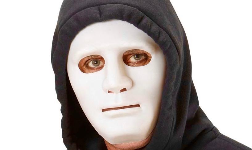 Dreng blev i torsdags jagtet af en klovn med hvid gummimaske. Temafoto