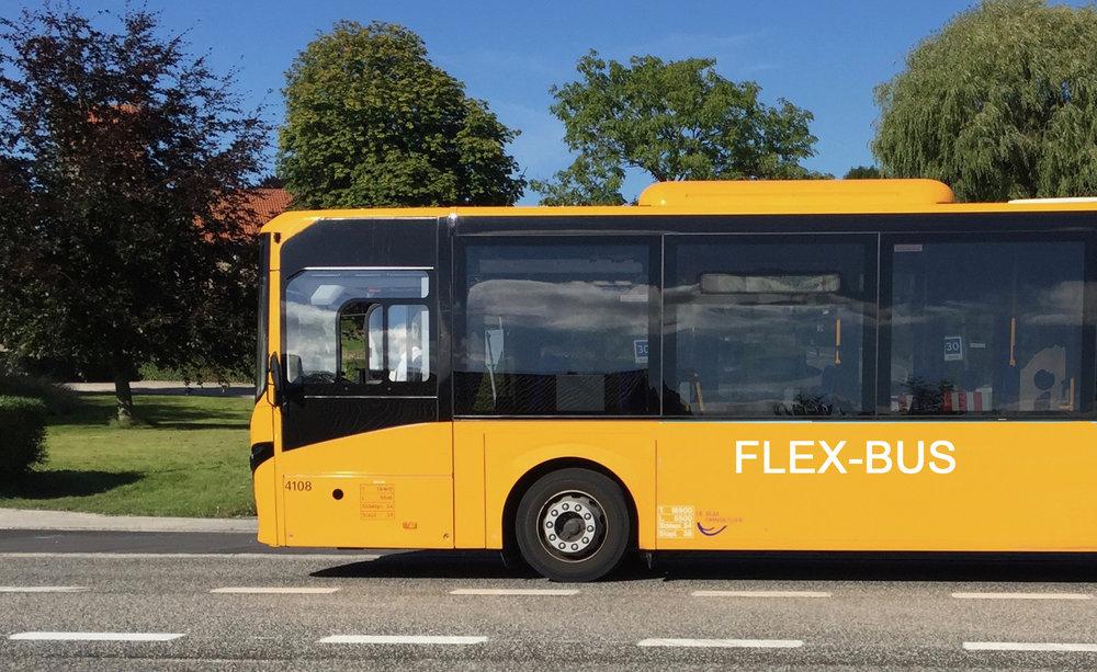 Flexture køres normalt af taxaer og liftvogne. Manipuleret foto: AOB