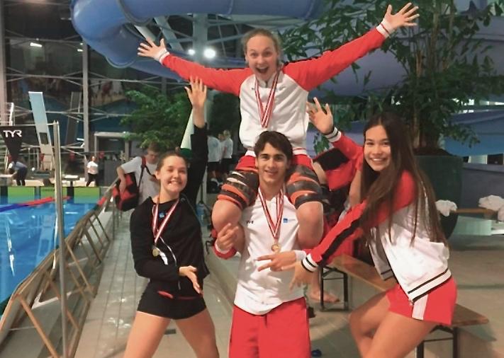 Stort tillykke til de fire Sigma Swim-deltagere. Foto:Jeanette Tullberg
