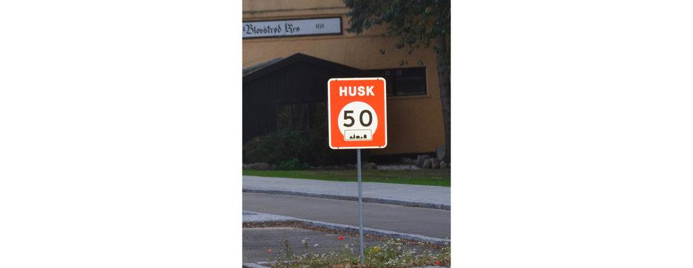 'HUSK 50'-afmærkningerne                           fjernes igen. Foto:AOB