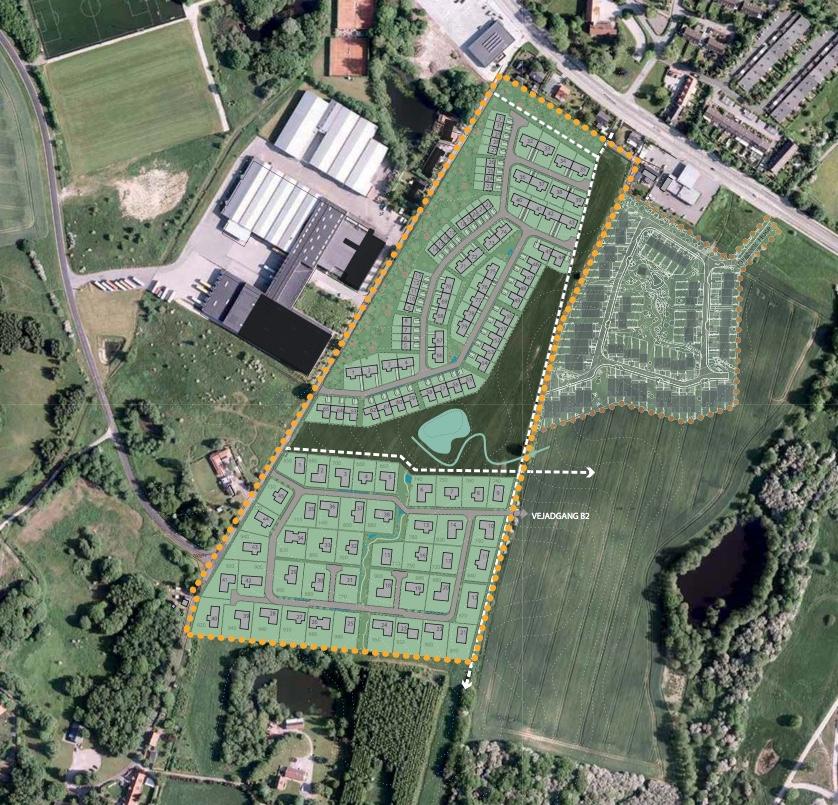 Ved borgermødet vil man bl.a. blive orientere om boligområdet B.1, som er navngivet 'Drabæk Huse', og om præstejordens område B.3 og B.4, som får betegnelsen 'Frugtlunden' og 'Grønningen'.