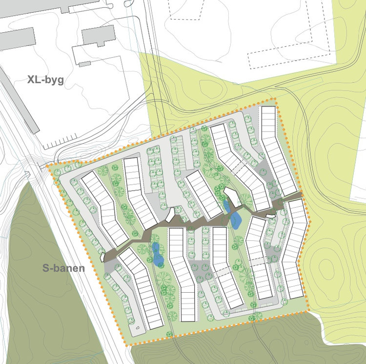Ved mødet vil man endvidere høre om bebyggelsen 'Ved Teglskoven', som er placeret syd for XL-byg.