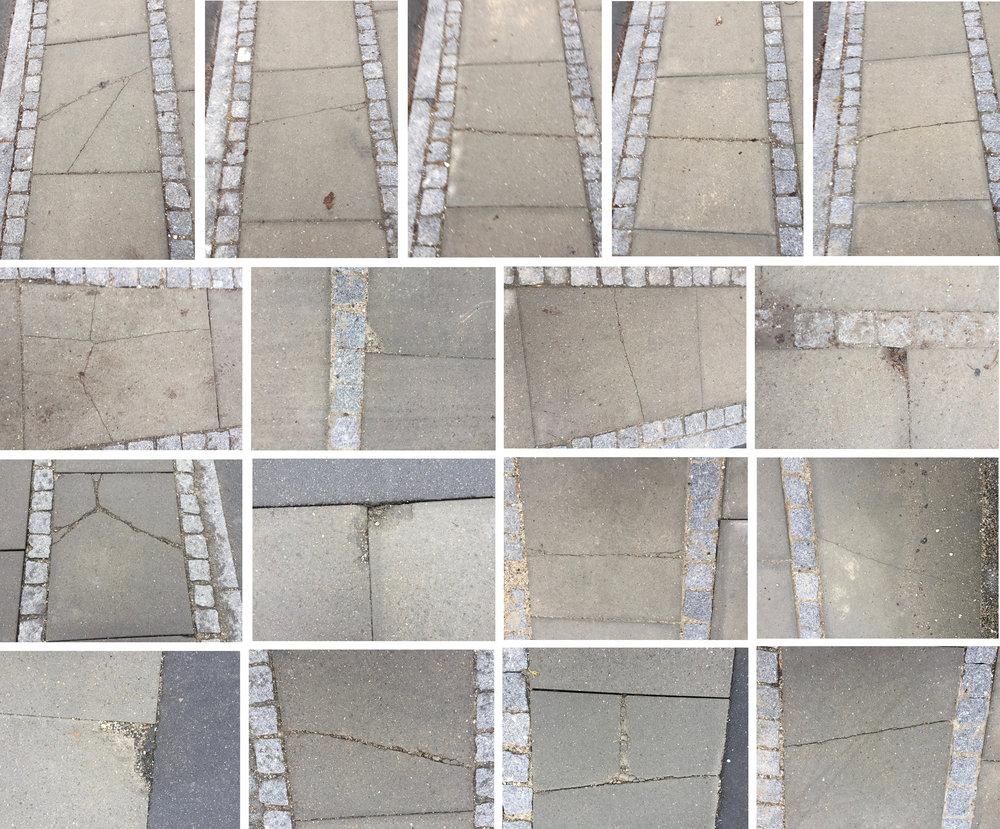 De mange knækkede fliser bliver udskiftet - men først ved 1-års-mangelgennemgangen. Foto: AOB