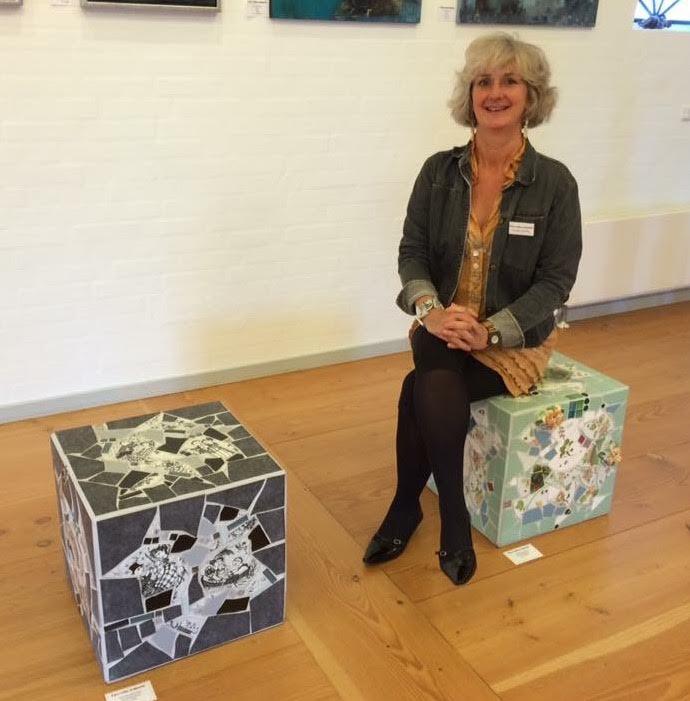 """Blovstrød-borgeren Pernille Hølledig:""""Mine skulpturer er lavet af fliser og porcelæn."""""""