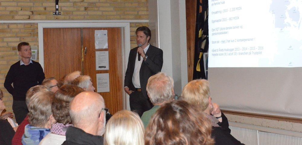 Direktør Martin Ravn-Nielsen oplyste, at HusCompagniet har markedets bedste kundetilfredshed og er kåret til 'Årets Husbygger' de seneste 4 år i træk. Foto. AOB