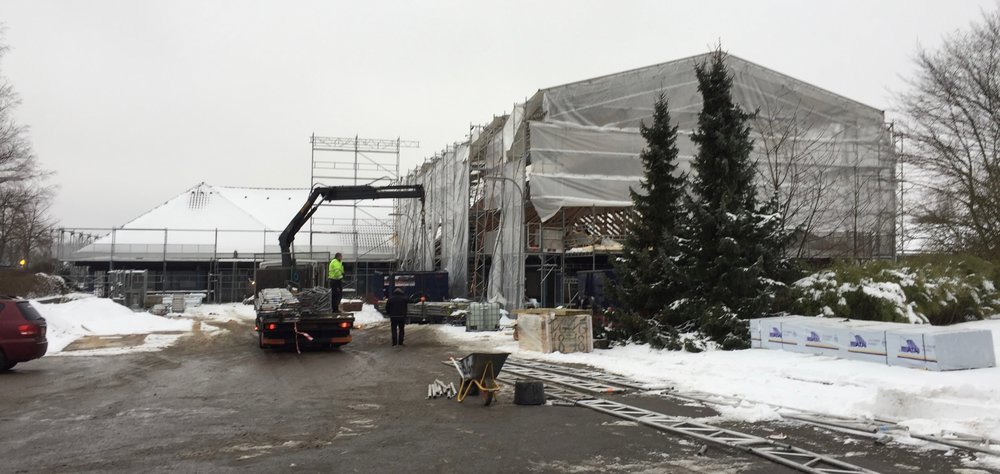 Siden starten af januar i år har   Kongeegen A/S   været i fuld gang med at ombygge Blovstrødcentret til lejligheder. Foto:AOB