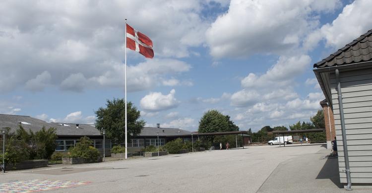 Blovstrød Skole har hejst flaget - for de får penge tilbage. Arkivfoto: AOB