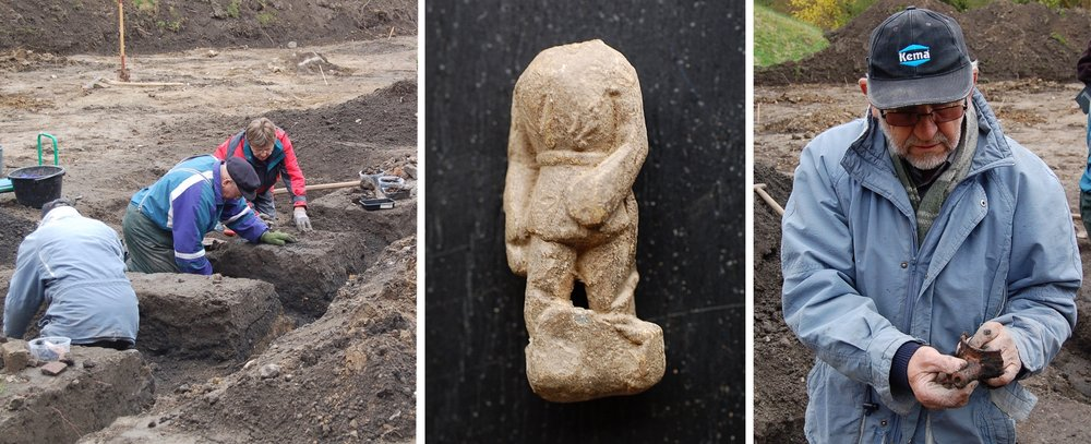 Se hvad arkæologerne gravede op af mulden  . I mange tilfælde graves der søgerender, hvorved man bl.a. med   metaldetektorer  finder spor efter danefæ. Arkivfoto: AOB