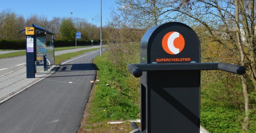 Supercykelstien 'Allerødruten' - som i alt er på 28,6 km og forbinder København med Hillerød - blev indviet i går,den 2. maj. Foto: AOB