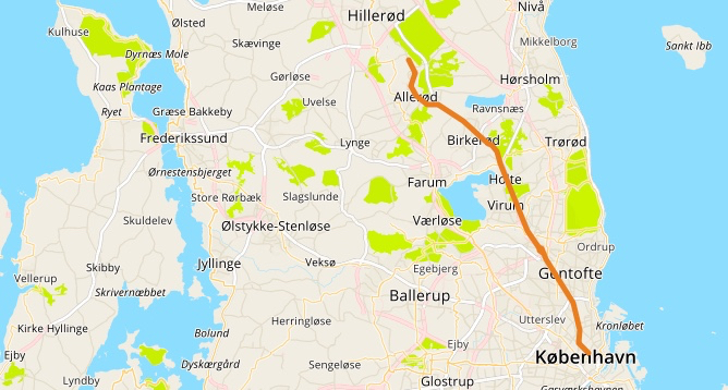 Allerødruten er en radialrute i nettet af Supercykelstier. Ruten forbinder byområderne Hillerød, Ny Hammersholt, Allerød, Blovstrød, Birkerød, Bistrup, Holte, Virum, Sorgenfri, Lyngby samt Gentofte og København.