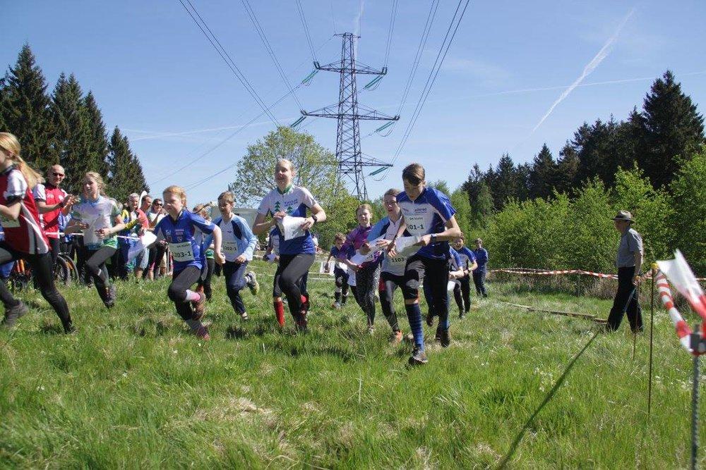 Omkring 50 medlemmer af Allerød OrienteringsKlub var involveret i arrangementet, der satte ny standard for afviklingen af SM-stafet. Foto: Gert Lillevang Nielsen