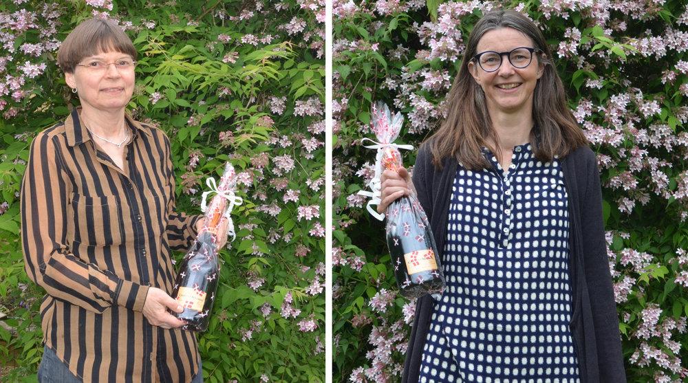 De to vindere af champagne:Merete Hillestrøm og Andrea Wilcks. Stort tillykke! Foto:AOB