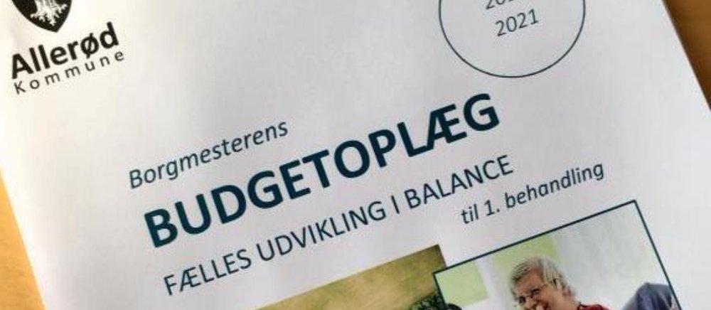 """Borgmester Jørgen Johansen:""""En balance mellem politiske ambitioner og økonomiske muligheder"""". Illustration: Allerød Kommune"""