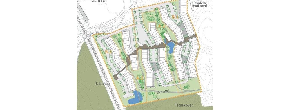 Lokalplanforslag af Teglskovens byggeri