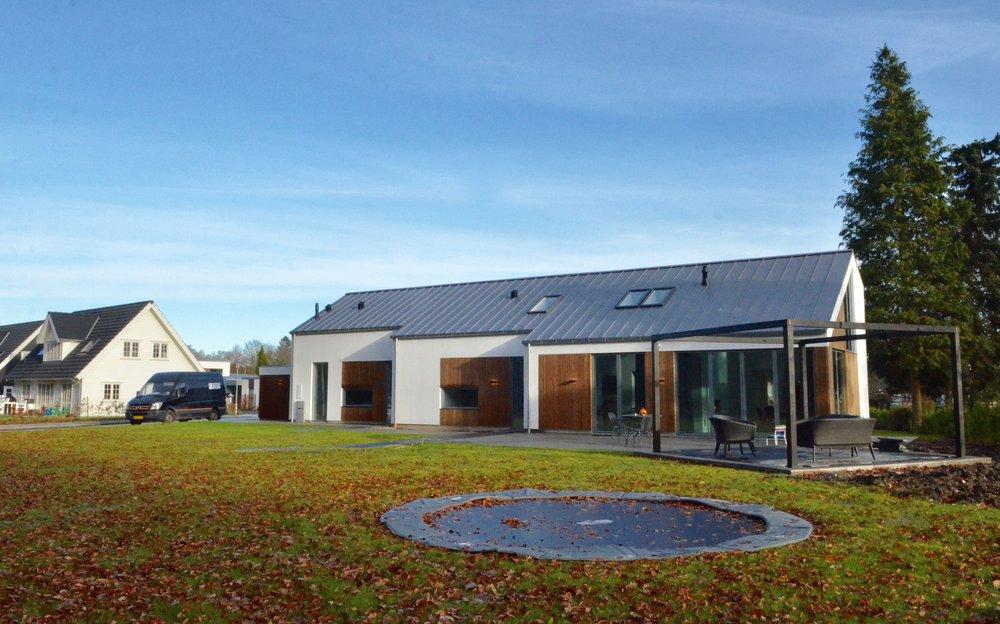 En af de nye villaer på Skovvejen. Foto: AOB