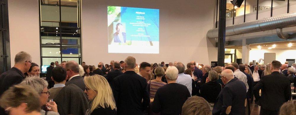 Over 150 gæster var mødt frem til receptionen. Foto: AOB