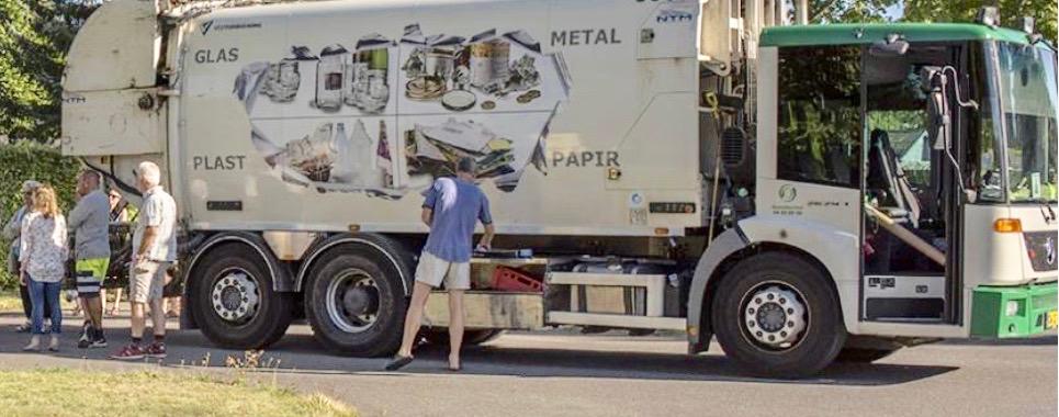 Tømmefrekvensen for de nye affaldstyper bliver højst sandsynligt hver 3. uge for papir og plast og hver 8. uge for glas og metal, mens d  agrenovationen bliver tømt som nu:en gang om ugen.Foto: Rudersdal Kommune