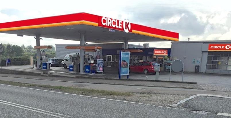 Kidnapningen fandt sted på Circle K-tanken på Kongevejen her i Blovstrød. Arkivfoto:AOB