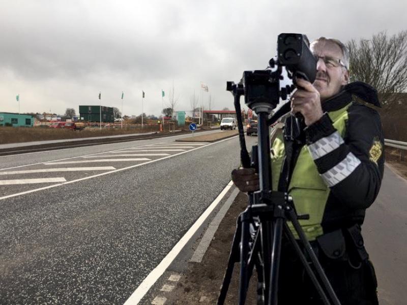 Politiet har specielt i denne uge fokus på fartsyndere - også i Blovstrød. Manipuleret foto: AOB
