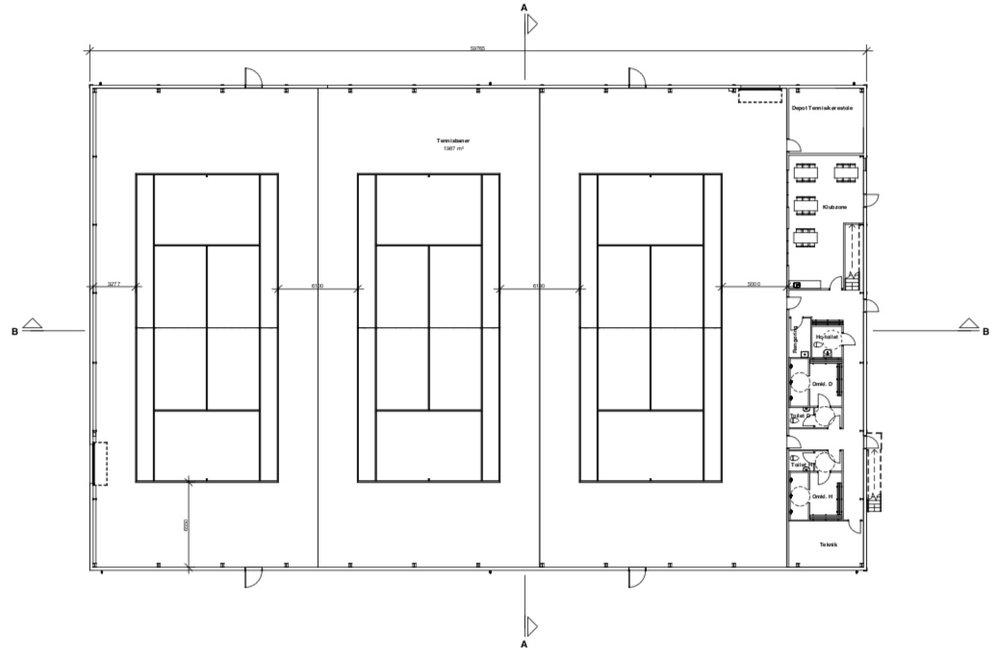 Stueplan. Illustration:Arkitektfirmaet Thomas Kullegaard A/S