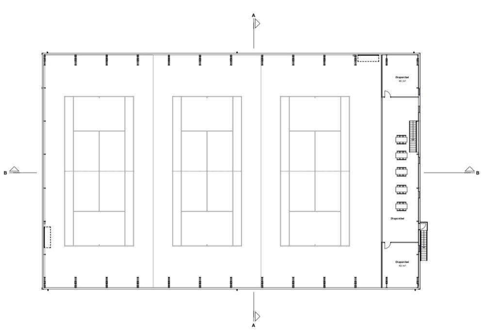 1. salsplan.Illustration:Arkitektfirmaet Thomas Kullegaard A/S