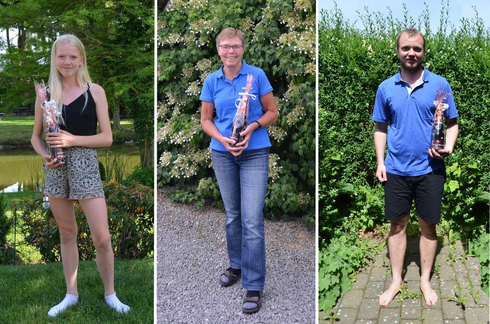Her er de tre vindere: Fra venstre: Ida Buchwald, Birgit Hausner og   Claes Scherwin.Foto: AOB