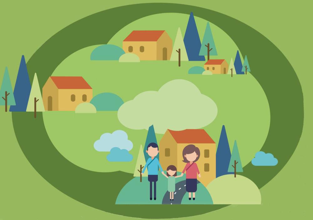 I et bredt samarbejde mellem Allerød Kommune, brugerne og firmaet Autens er der udarbejdet et forslag til en helhedsplan. Illustration:Autens