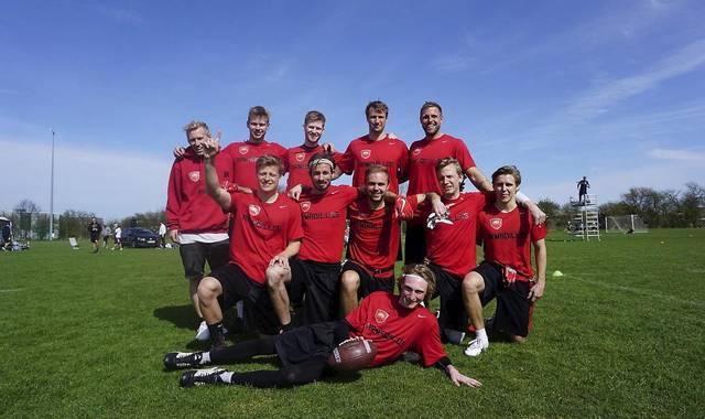 5 ud af 12 spillere på herrelandsholdet er fra Allerød Armadillos.Privatfoto