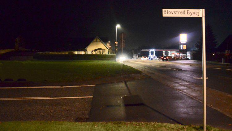 På Kongevejen i Blovstrød stoppede en politipatrulje en spritbilist ved midnatstid. Arkivfoto: AOB