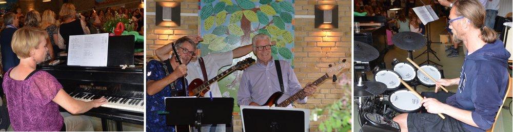 Lærernes fantastiske orkester spillede bl.a. til 'Blovstrødsangen' og fødselsdagssangen 'Happy Birthday'. Foto: AOB