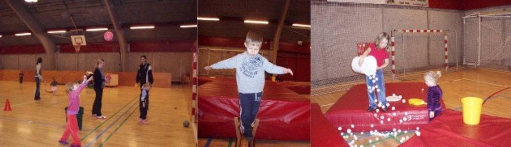 Der er 8 søndage i vintersæsonen, hvor børn op til 7 år kan lege i Blovstrødhallen.