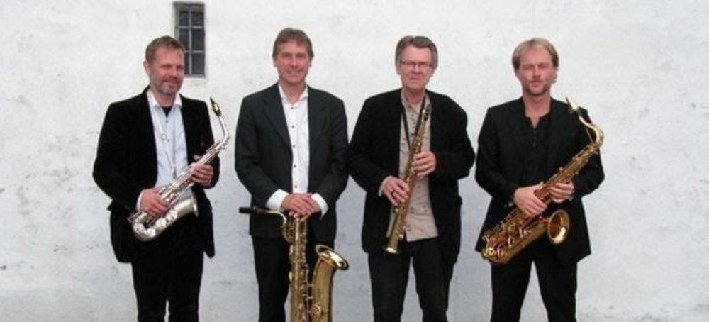 Dansk Saxofonkvartet blev dannet i 1986, og nu har man en chance her i Blovstrød for høre det enestående ensemble. Pressefoto