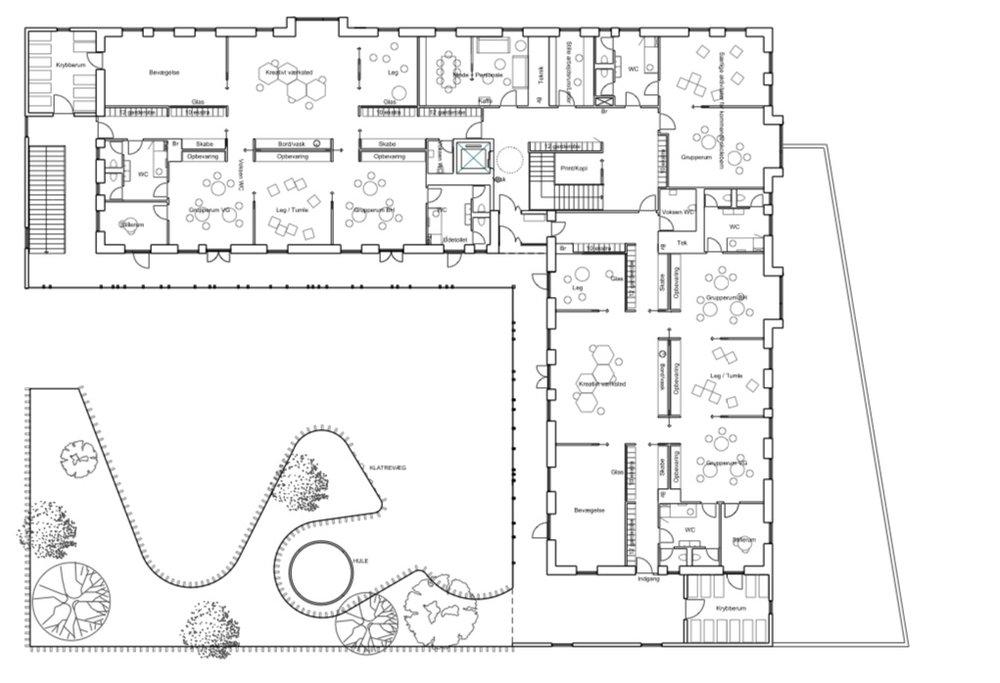1. SALSPLAN  Plantegningerne er udarbejdet af Vilhelm Lauritzen Arkitekter.