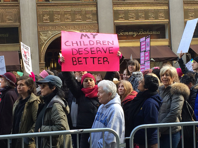 At the Women's March on NYC, January 21, 2017
