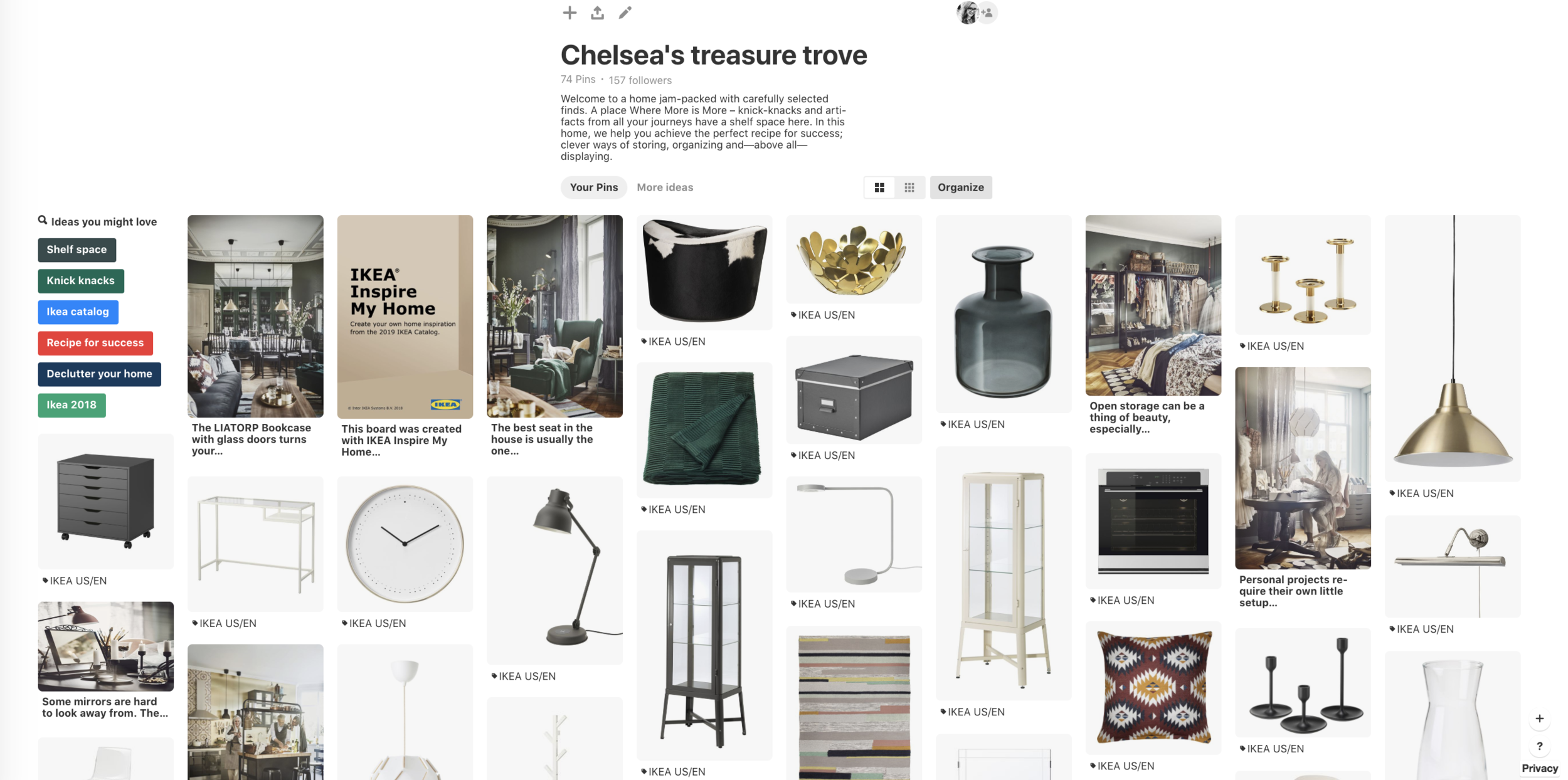 Personalized Pinterest Boards Inspired By The 2019 Ikea Catalog