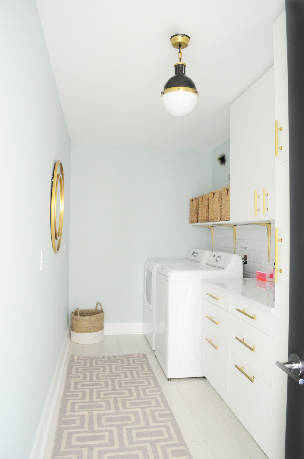 modern coastal laundry room