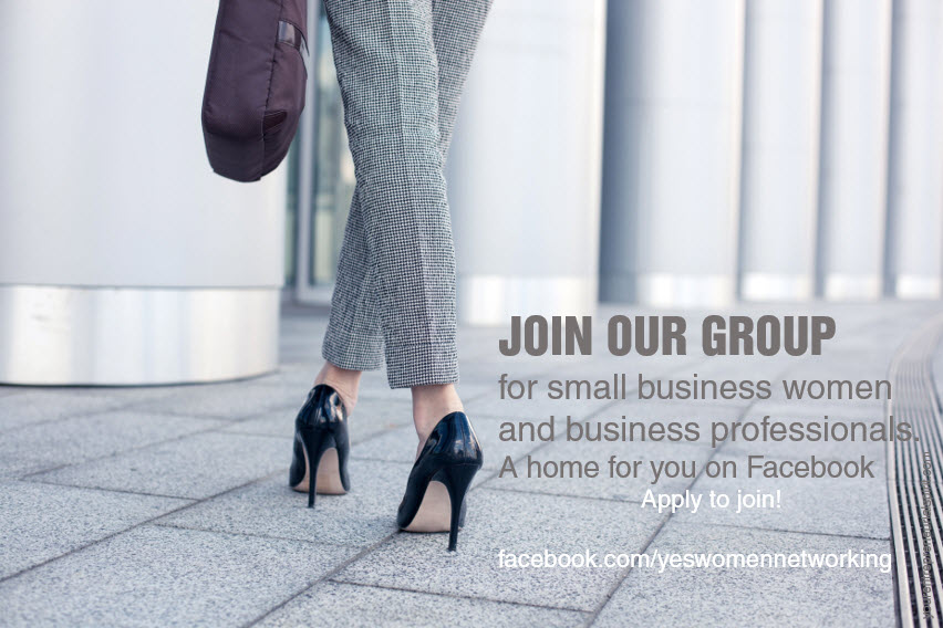 Click here to apply to Join our spam-free Facebook group for small biz women and biz professionals. Facebook - Y.E.S. Women Networking