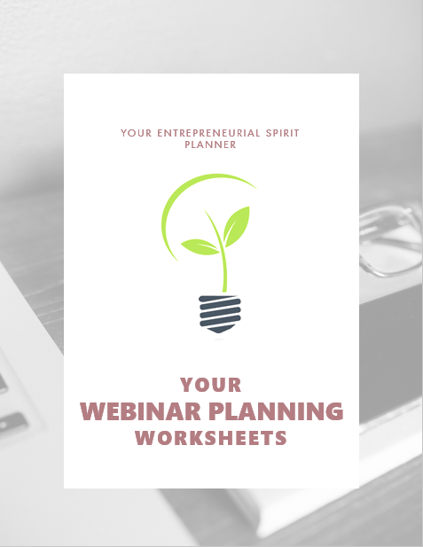 plan your webinar with these helpful worksheets