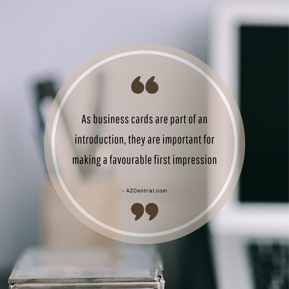 Business cards quote